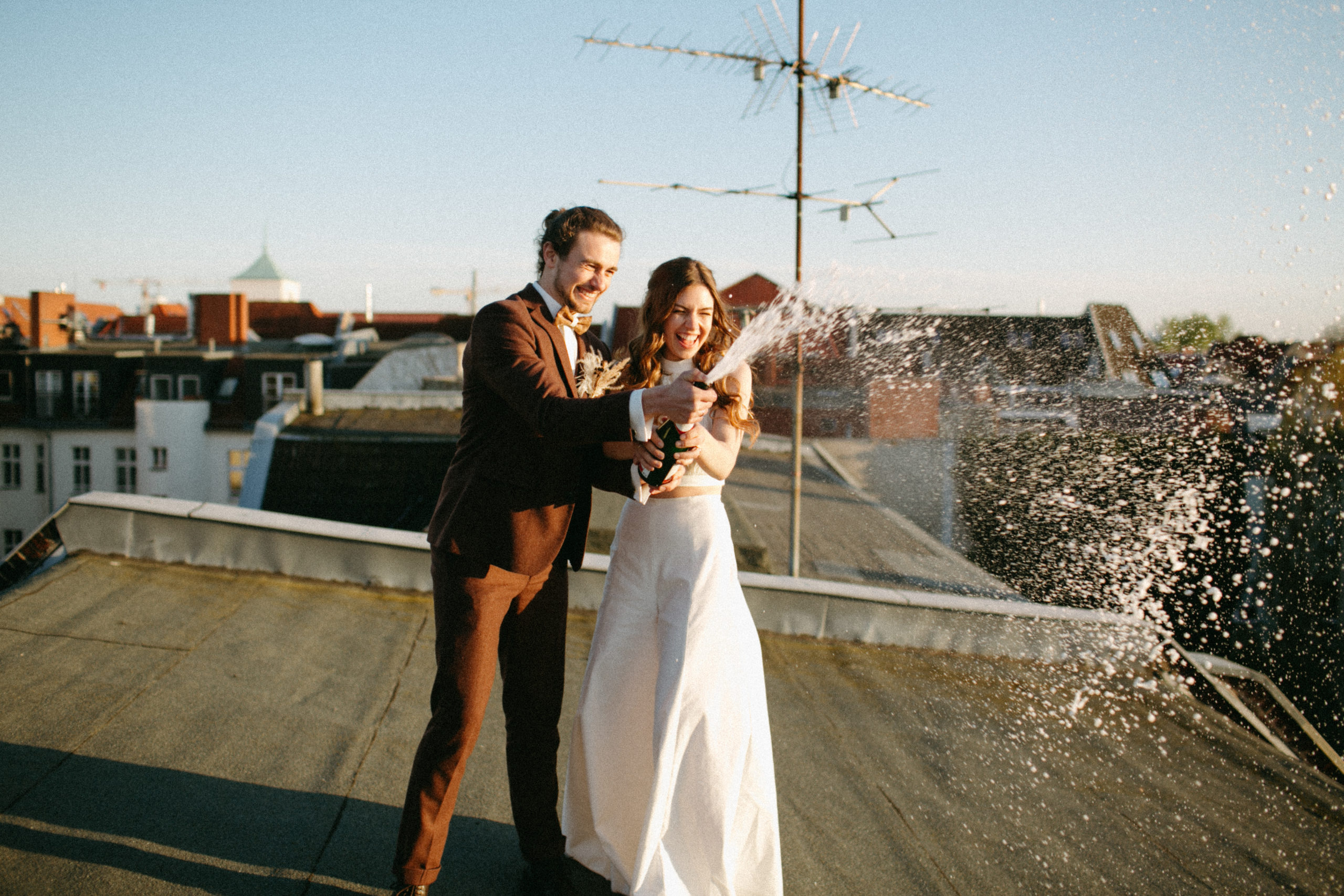 tiny rooftop wedding